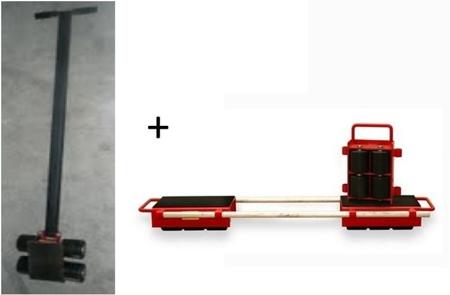 LIFERAIDA Zestaw rolek transportowych przód i tył (łączny udźwig: 9,0 T) 03015122