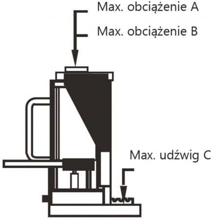 Podnośnik maszynowy Unicraft, przestawny pazur (udźwig: 8 t) 32240216