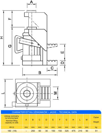 Podnośnik z bocznym podnoszeniem (udźwig: 18T) 62725745