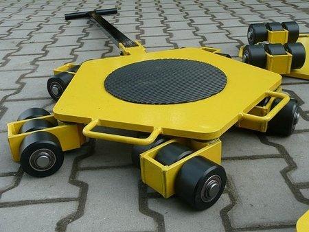 Wózek rotacyjny stały, rolki: 3x nylon (nośność: 2 T) 12258864