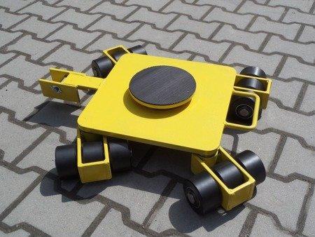 Wózek rotacyjny z płytą obrotową, rolki: 12x nylon (nośność: 4 T) 12258870