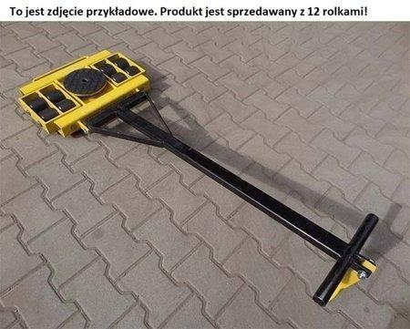 Wózek skrętny z otworem fi 21 w płycie nośnej, 12 rolkowy, rolki: 12x kompozyt (nośność: 16 T) 12267437