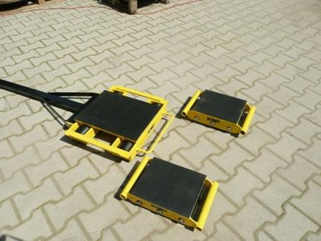 Zestaw wózków z prostokątną płytą nośną, rolki: 20x nylon (nośność: 18 T) 12235630